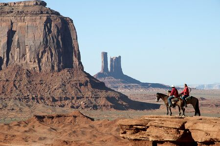 The Buttes of Monument Valley in Navajo Tribal Lands of Arizona and Utah USA