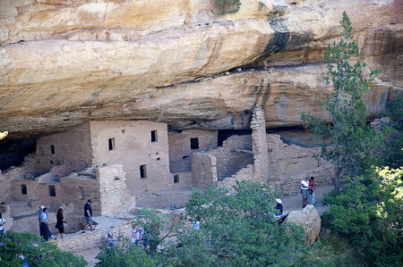 Mesa Verde National Park Colorado USA. There are about 600 cliff dwellings with the National Park.