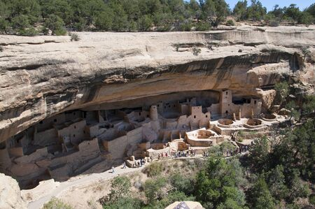 Mesa Verde National Park Colorado USA. There are about 600 cliff dwellings with the National Park.This is the Cliff Palace