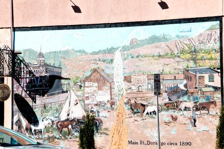 main street: Strada principale di Durangoi Colorado USA Editoriali