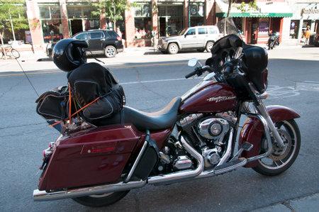 main street: Moto sulla Main Street di Durango Colorado USA Editoriali