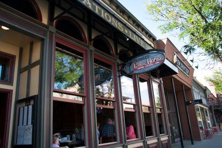 main street: Vecchi caff� sulla Main Street di Durango Colorado USA