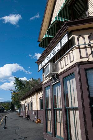 narrow gauge: Railway station on the Durango to Silverton Narrow Gauge Railway Colorado USA Editorial