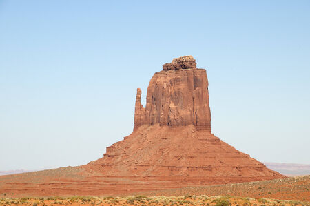 Buttes in Monument Valley on Navajo Tribal Lands in Arizona USA