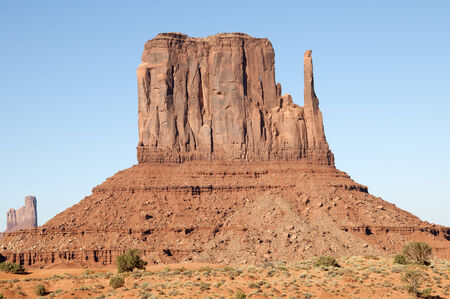 john wayne: Buttes in Monument Valley on Navajo Tribal Lands in Arizona USA