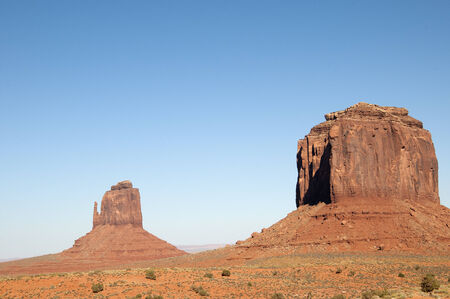 mesas: Buttes in Monument Valley on Navajo Tribal Lands in Arizona USA