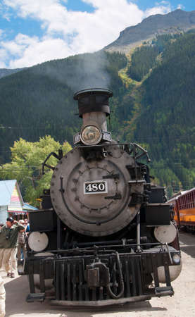 narrow gauge railway: Silverton at the end of the line of the Durango to Silverton Narrow Gauge Railway Colorado USA