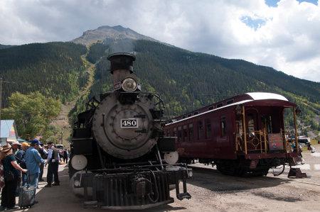 narrow gauge railway: Silverton at the end of the line of the Durango to Silverton Narrow Gauge Railway Colorado USA