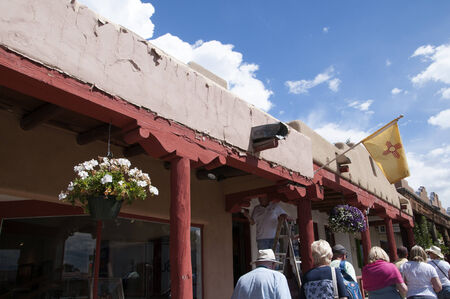 adobe: Typical Adobe Architecture in Taos New Mexico USA Editorial