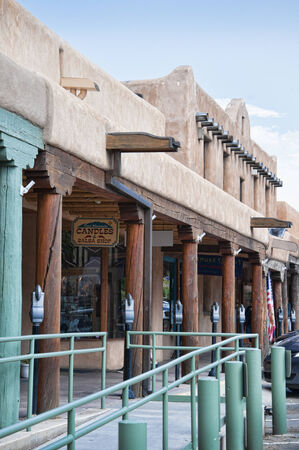 Typical Architecture in Santa Fe New Mexico USA