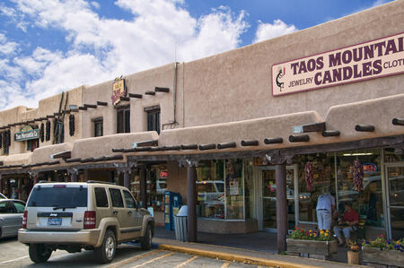 The creative city of Santa Fe in New Mexico USA Editorial
