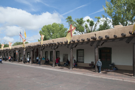 Typical Architecture of Santa Fe in New Mexico USA