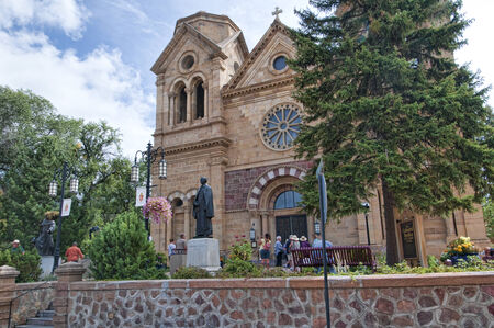 Cathedral in Santa Fe New Mexico USA
