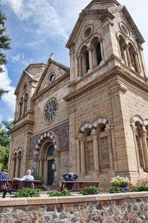 fe: Cathedral in Santa Fe New Mexico USA