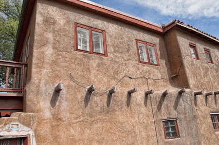 fe: Typical architecture in Santa Fe New Mexico USA Editorial