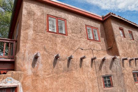 Typical architecture in Santa Fe New Mexico USA Editorial