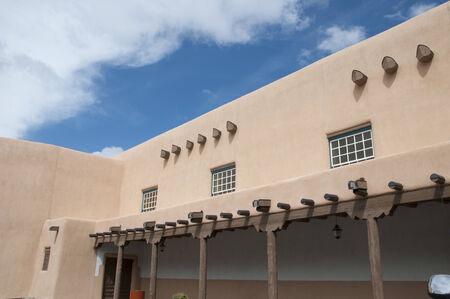 fe: Adobe Church in Santa Fe New Mexico USA