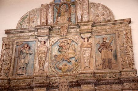 fe: Altarpiece in an Adobe Church in Santa Fe New Mexico USA