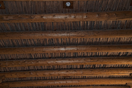 fe: Structure of an Abobe roof in Santa Fe New Mexico