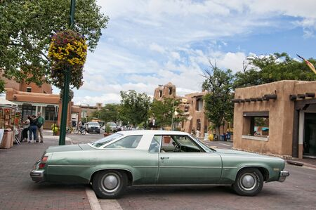 fe: Old Automobile in Santa Fe New Mexico USA