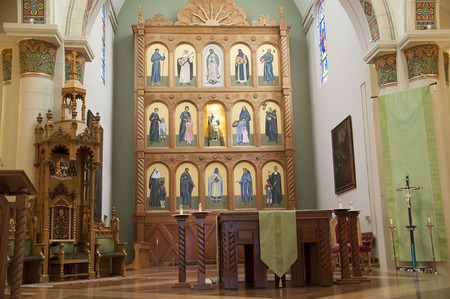 fe: The Cathedral of St Francis of Assisi in Santa Fe New Mexico USA
