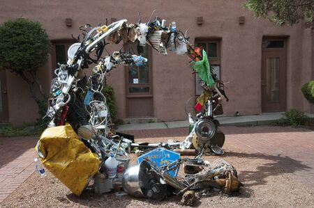 fe: Art made from Rubbish or Trash in Santa Fe New Mexico