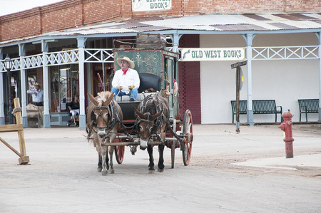shootout: Actor in Tombstone in Arizona where the Gunfight at the OK Corral was fought in the USA. It is called the Town too tough to die.