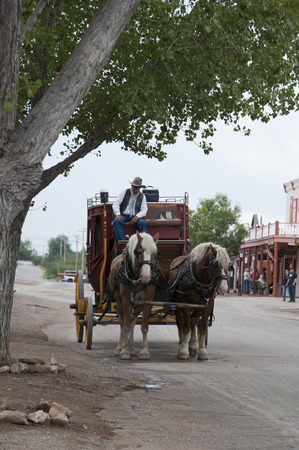 shootout: Tombstone in Arizona where the Gunfight at the OK Corral was fought in the USA. It is called the Town too tough to die.