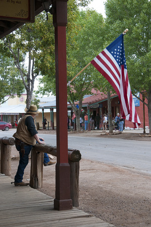 corral: Tombstone in Arizona where the Gunfight at the OK Corral was fought in the USA. It is called the Town too tough to die.
