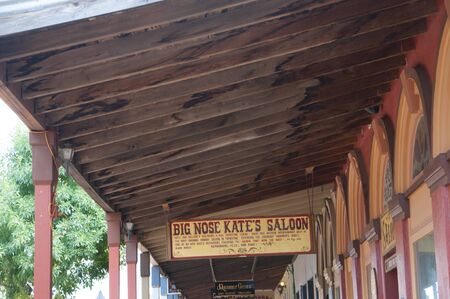 Tombstone in Arizona where the Gunfight at the OK Corral was fought in the USA. It is called the Town too tough to die.