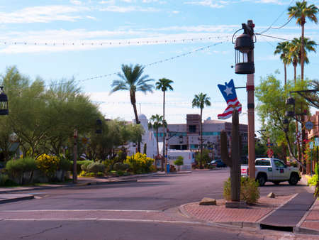 Shopping Street in Old Scottsdale near Phoenix Arizona USA