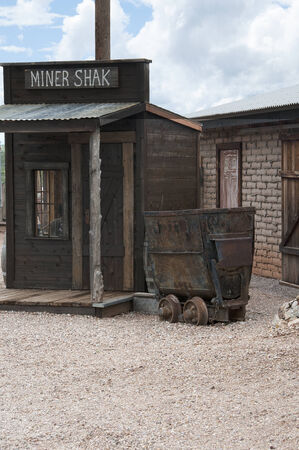 shack: Wooden Shack in the old Town of Tombstone Arizona USA. The town known as being too tough to die Stock Photo