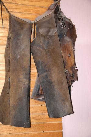 brenda kean: Historic Leather Cowboy Chaps in Tombstone Arizona USA