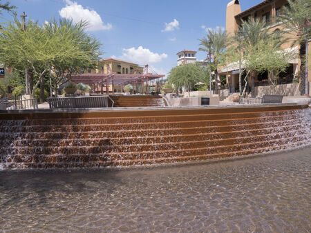feature: Water Feature in Scottsdale Arizona USA Stock Photo