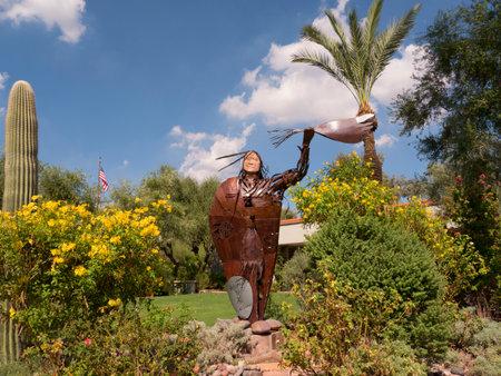 scottsdale: Elk Woman Sculpture in Scottsdale Arizona USA