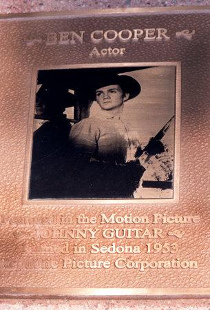 memorabilia: Movie memorabilia celebrating movies made in the town in the main street through Sedona Arizona USA Editorial