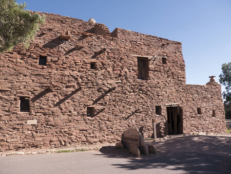 hopi: Hopi Indian House on the South Rim of the Grand Canyon in Arizona USA Editorial
