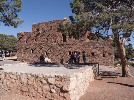 Hopi Indian House on the South Rim of the Grand Canyon in Arizona USA Editorial