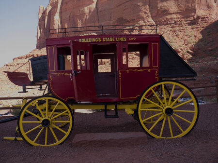 john wayne: Stagecoach used in Movies made in Monument Valley in the USA Editorial