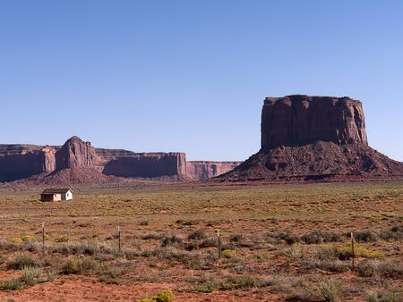 Monument Valley in the  Navajo Tribal Lands between Arizona to Utah USA