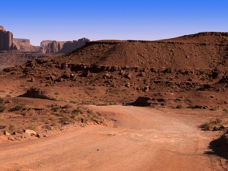 red bluff: Monument Valley in the  Navajo Tribal Lands between Arizona to Utah USA