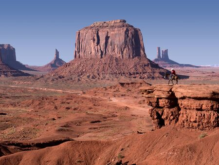 mesas: Monument Valley in the  Navajo Tribal Lands between Arizona to Utah USA
