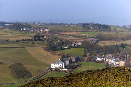 moorland: Rossendale Valley Moorland In Lancashire England