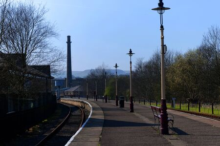 lancashire: Tourist Train Station in Lancashire England