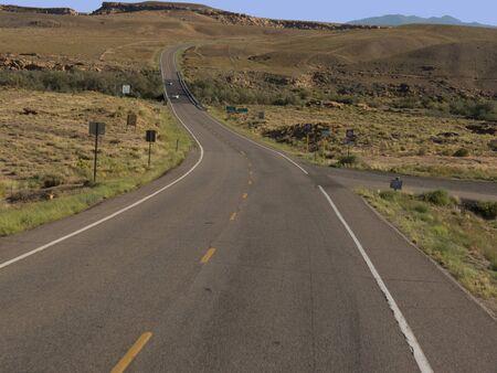 mesa: Road Through the Mesa Verde National Park Colorado USA.