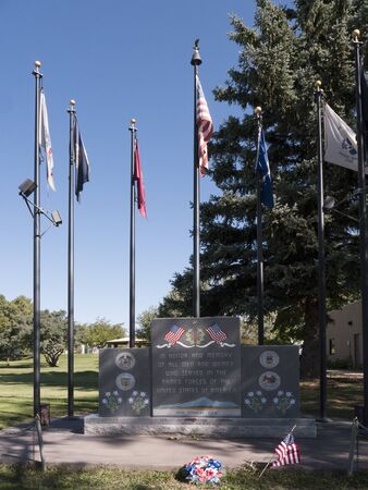 four corners: Memorial in the town of Four Corners at the confluence of Arizona, Colorado,New Mexico,Utah in the South West of the USA Editorial
