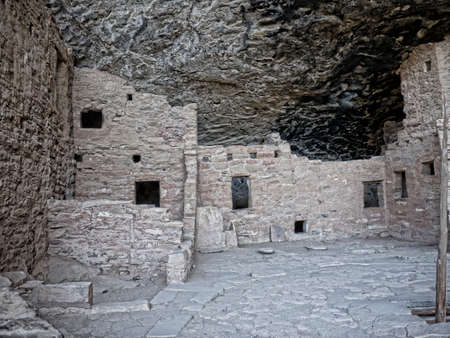 mesa: Mesa Verde National Park Colorado USA. There are about 600 cliff dwellings with the National Park. Most cliff dwellings are set in alcoves in the cliff house sandstone. Editorial