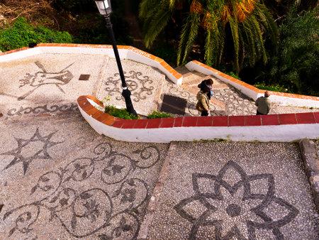 Nerja, a sleepy Spanish Holiday resort on the Costa Del Sol  near Malaga, Andalucia, Spain, Europe