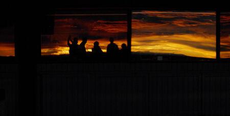 tucson: Sunset over Tucson Arizona USA