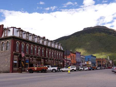 main street: Main Street in Silverton Colorado USA